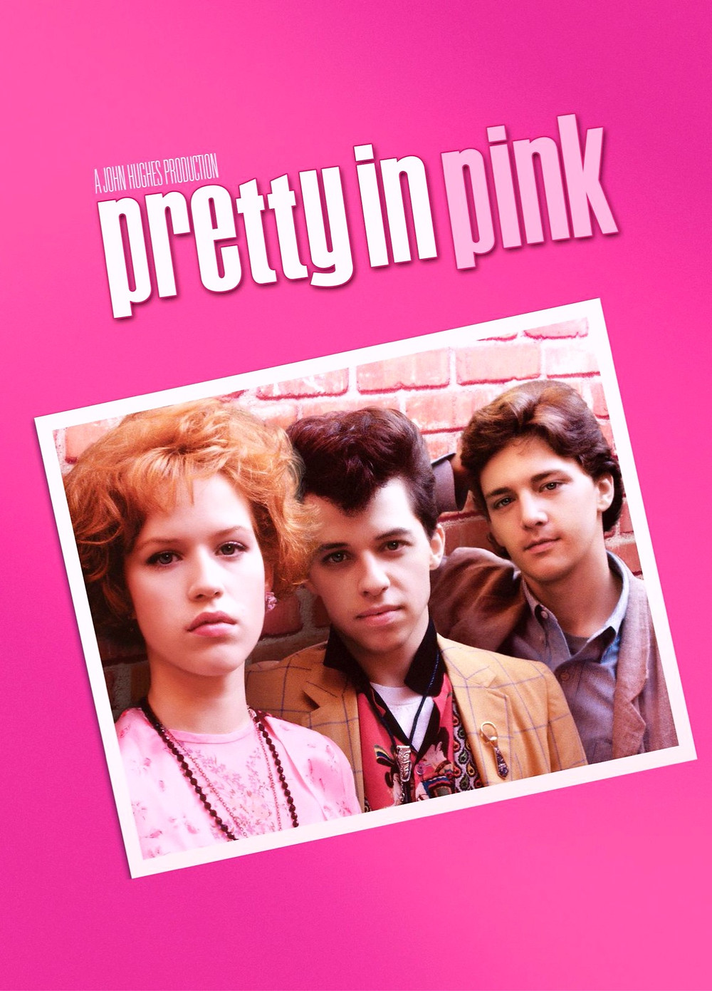 Pretty in Pink movie poster with Andie Ducky and love interest