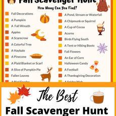 Best Fall Scavenger Hunt Printable