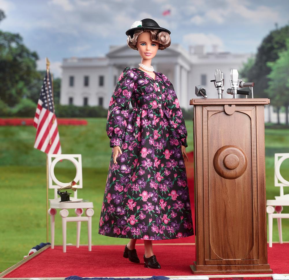 Barbie doll Eleanor Roosevelt by Mattel History series