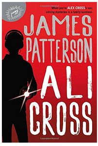 James Patterson Ali Cross mystery book cover with boy holding flashlight