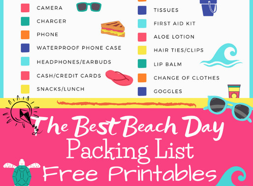 The Best Summer Beach Day Packing List - Free Printables!