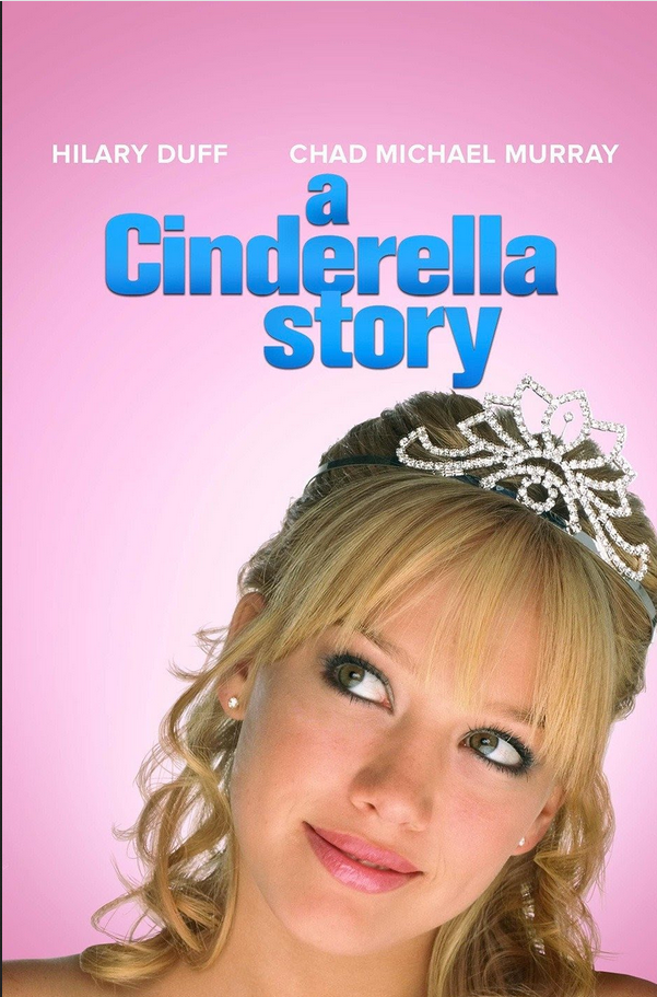 Movie poster Hilary Duff A Cinderella Story shows her with tiara on head