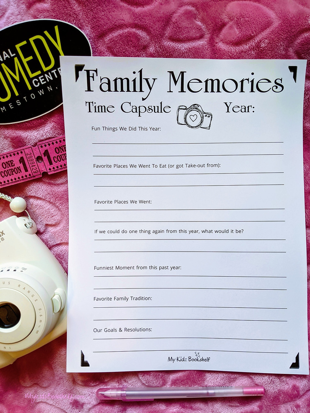 Family-Memories-Time-Capsule-Fill-in-paper-with-camera-and-tickets-in-the-background