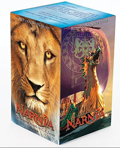 a-box-set-of-books-with-a-lion-on-one-side-and-a-dragon-on-the-other