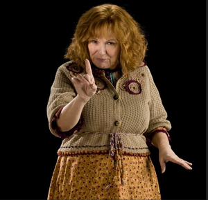 Mrs. Weasley from Harry Potter movie starring Julie Walters