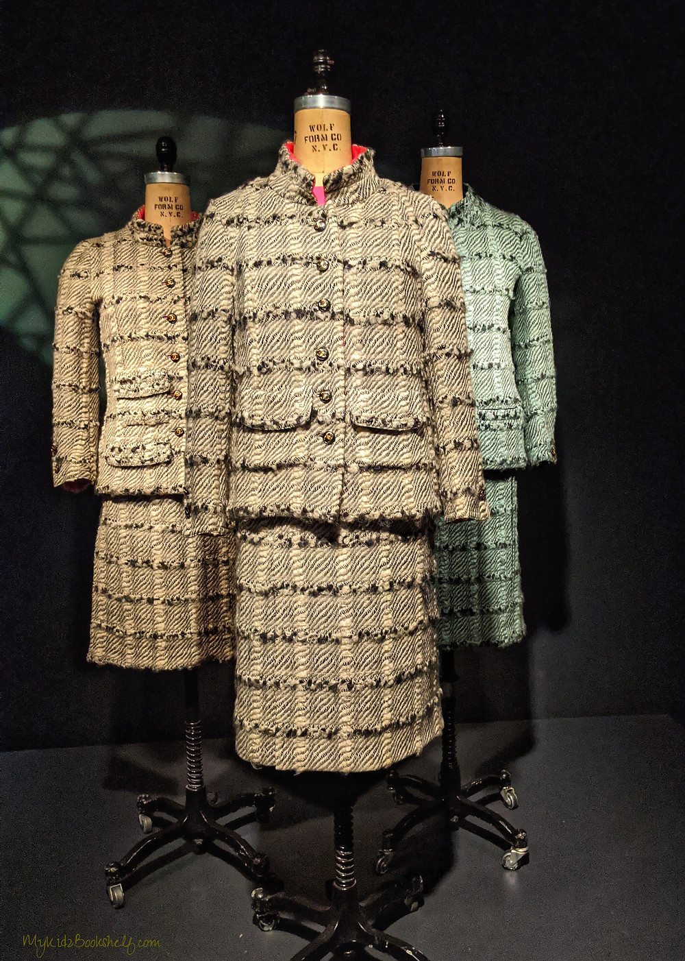 three-womens-suites-by-Chanel-one-real-one-commissioned-one-fake