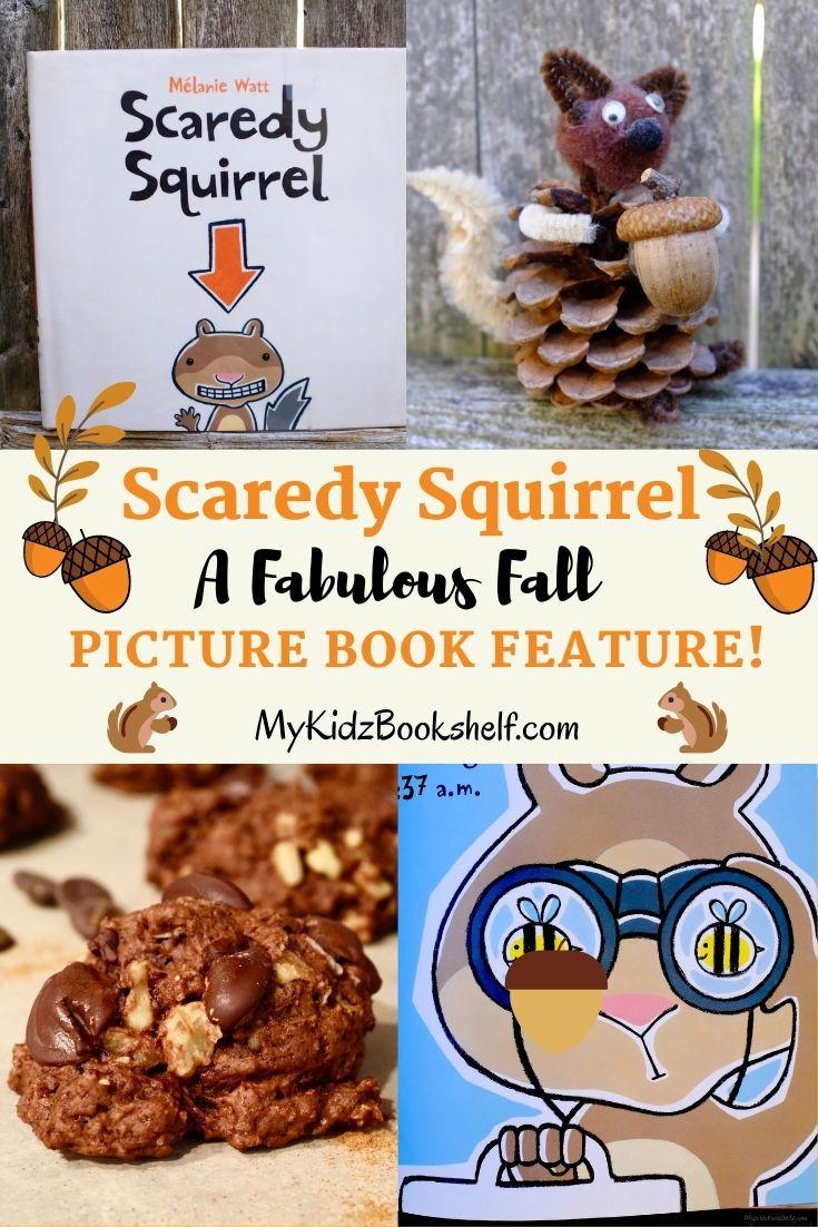 Pinterest pin Scaredy Squirrel picture book Melanie Watt