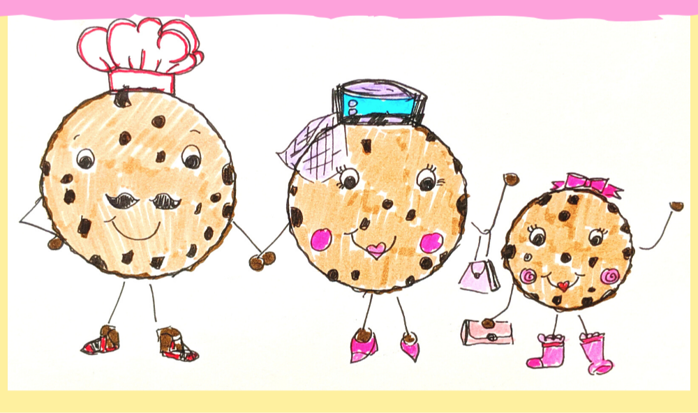 how to draw chocolate chip cookie friends tutorial