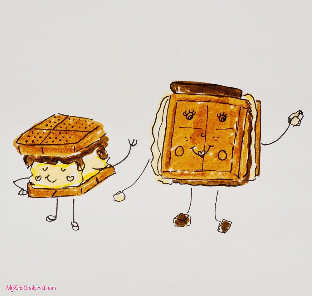 S'mores illustration diy characters