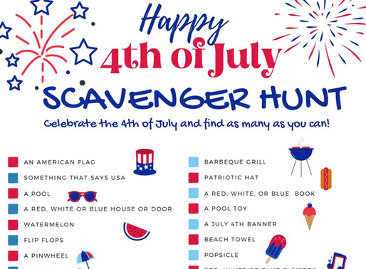 Happy Fourth of July Scavenger Hunt Free Printables! - A Fun Way to Celebrate the Holiday!