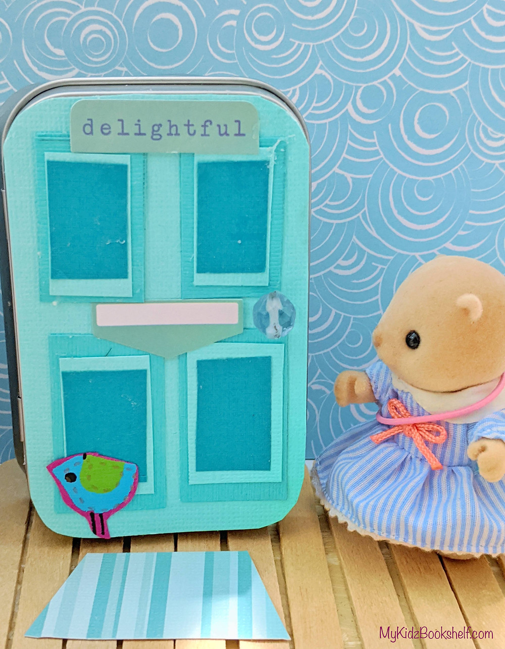 DIY - Make Your Own A-Door-Able Altoid Tin Craft for Kids of All Ages! with Sylvanian Families Calico Critters sea otter figure