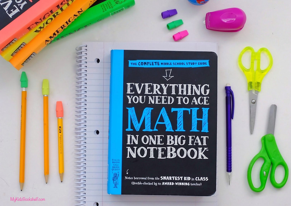 Brain Quest Big Fat Notebook book  with school supplies surrounding