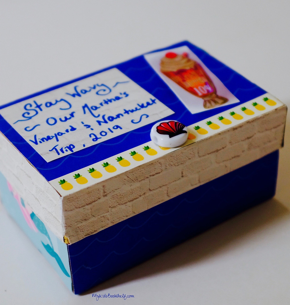 Stay Wavy keepsake box craft from My Kidz Bookshelf pinterest pin Martha's Vineyard