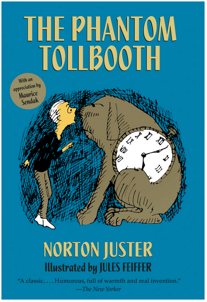 Books as boys as main characters, cover of The Phantom Tollbooth by Norton Juster