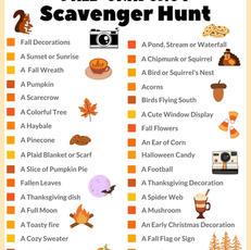 Fall Snapshot Scavenger Hunt Printable