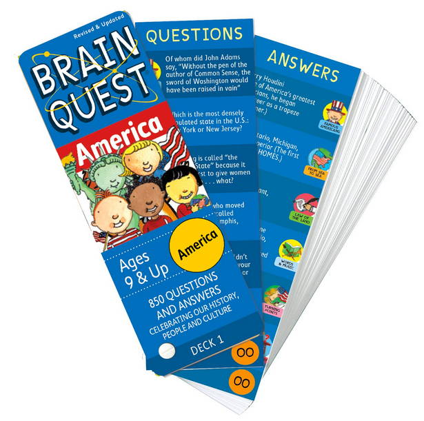 Brain Quest America Deck for Ages 9& Up