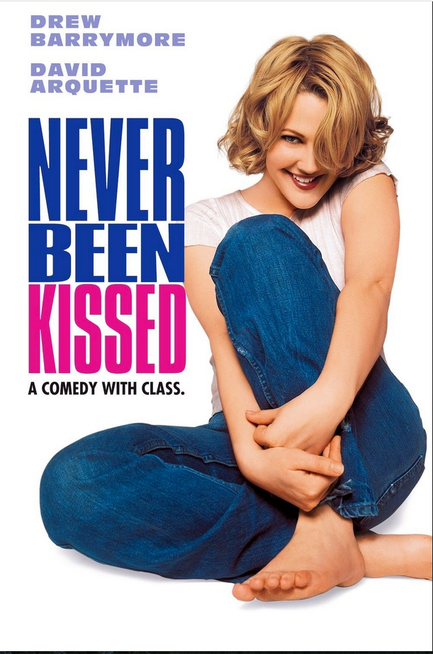 Movie poster Never Been Kissed with Drew Barrymore