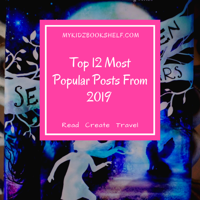Top-12-Most-Popular-Posts-From-2019-with-book-cover-from-Seraphina-and-the-Seven-Stars-in-the-background