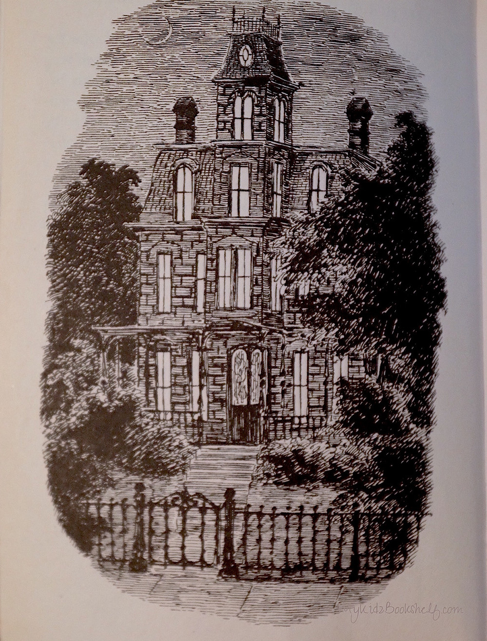 The-House-With-A-Clock-in-its-Walls inside illustration of the house