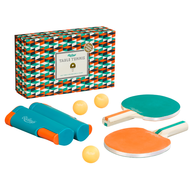 Ridley Table Tennis set with balls, box, paddles and retractable net