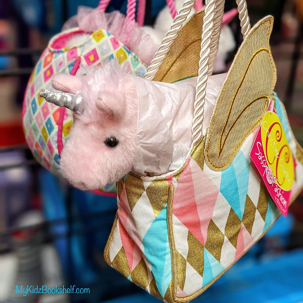 Glitter Fancy Sassy Sak with Pink Unicorn by Douglas