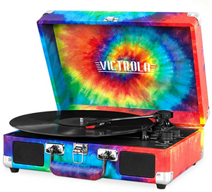 Best Gifts for Graduates Victrola suitcase Blue Tooth record player
