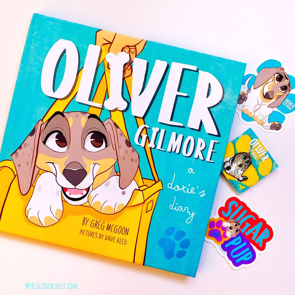 Oliver Gilmore: a dories diary picture book cover by Greg McGoon pictures by Dave Reed shows dog on cover
