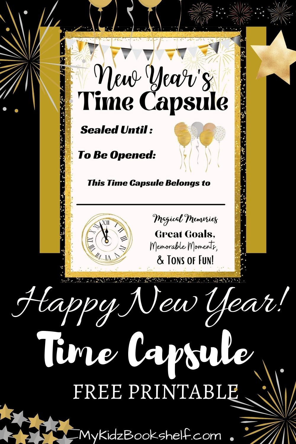 New Year's Time Capsule Pinterest Pin free printable