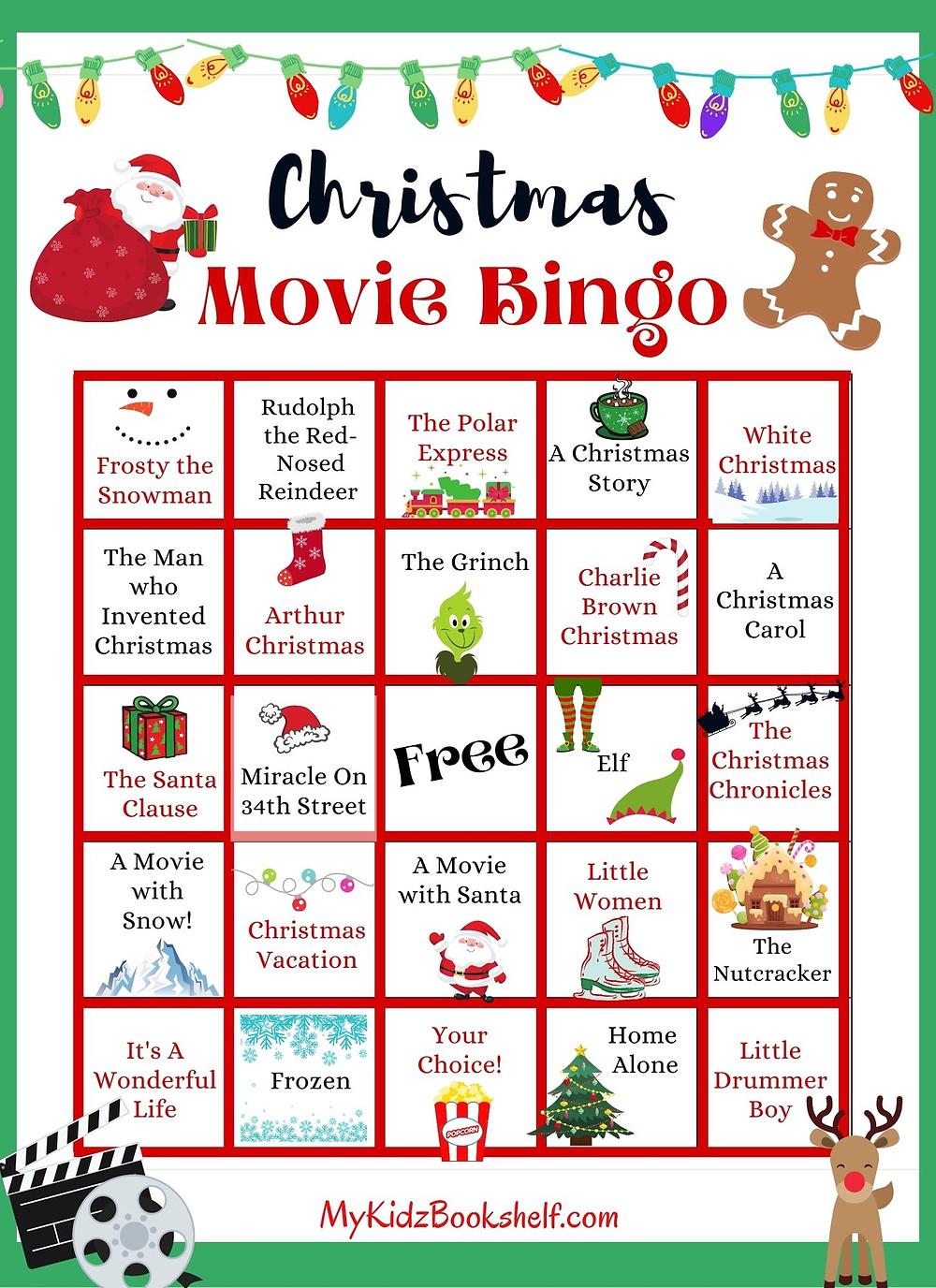 Christmas Movie Bingo Printable Free