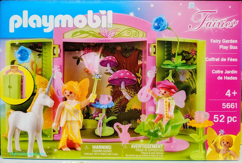 Playmobil Fairies Garden Play box with toadstool, unicorn, play figurine fairies and carry set