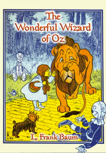Dorothy-talking-to-Cowardly-Lion-with-scarecrow-tinman-and-Toto-looking-on-as-they-are-on-the-yellow-brick-road