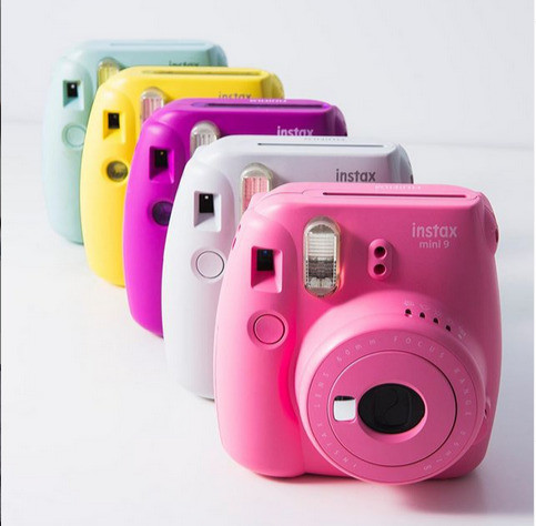 Fuji film instax mini 9 cameras in five different colors