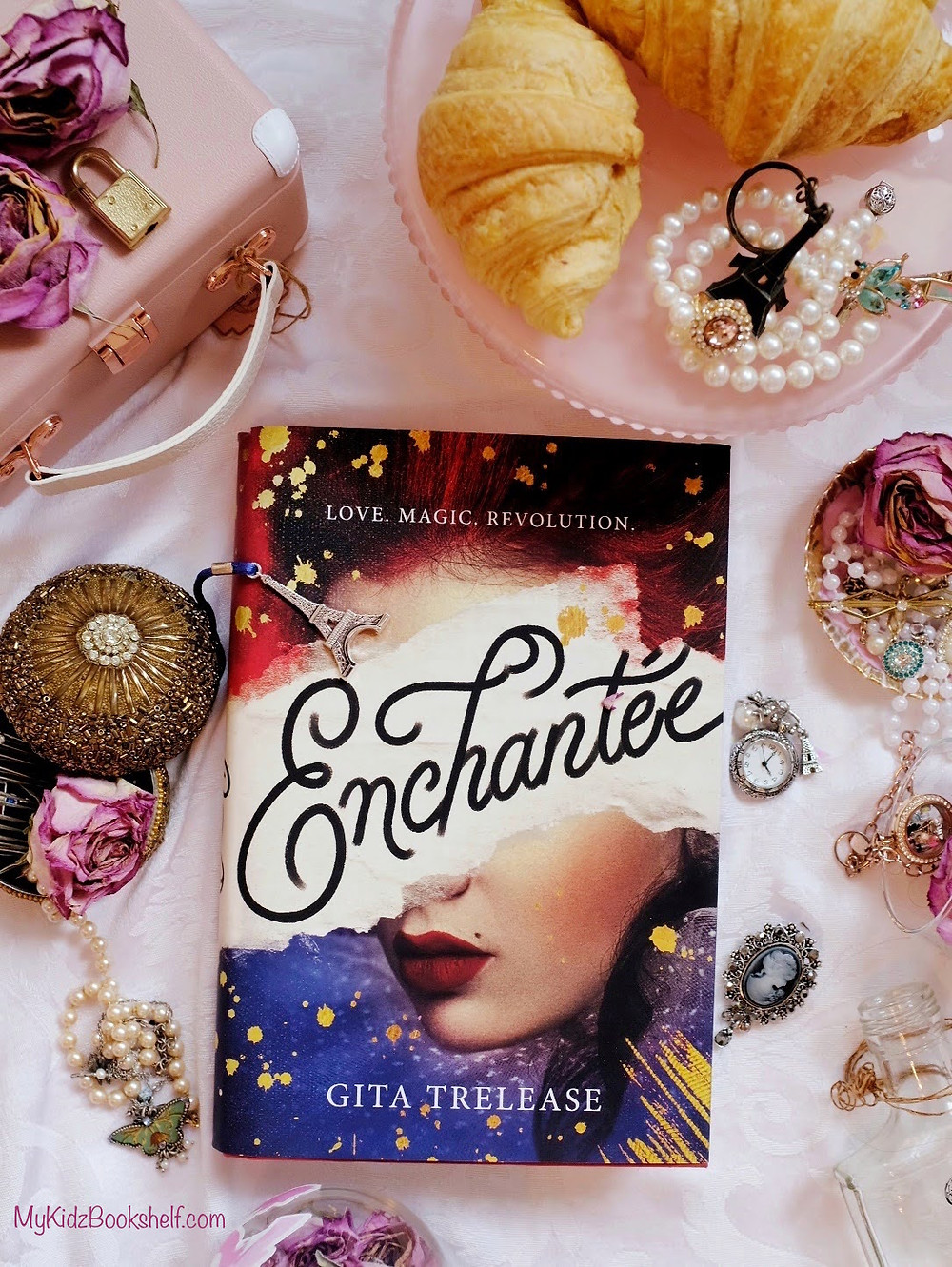 Enchantée by Gita Trelease young adult book with roses & French inspired