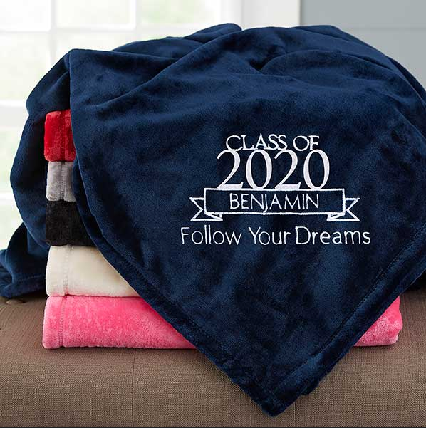 Best Graduation Gifts Personalized fleece blanket