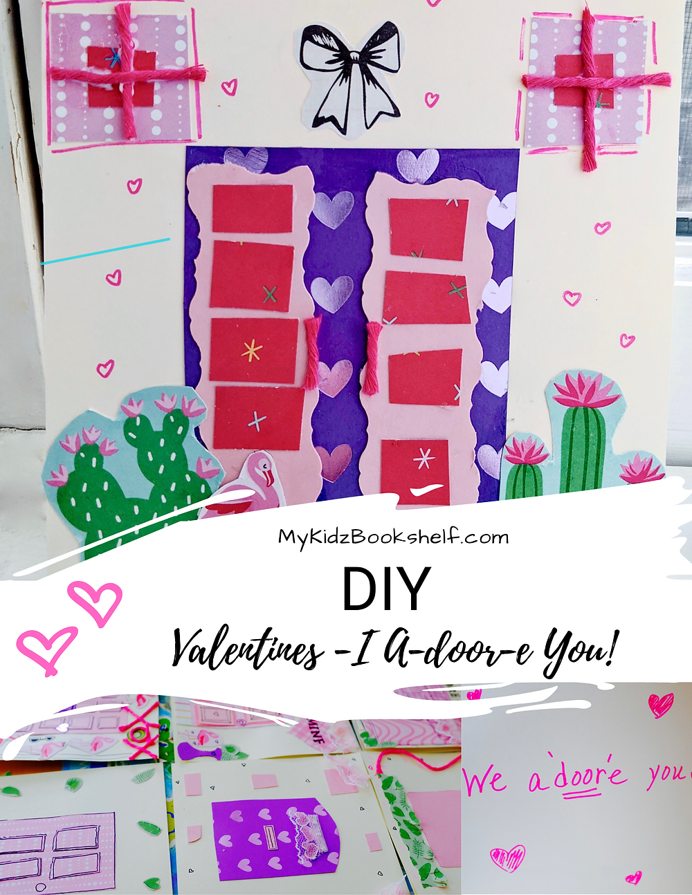 Valentines DIY card pinterest pin mixed media collage