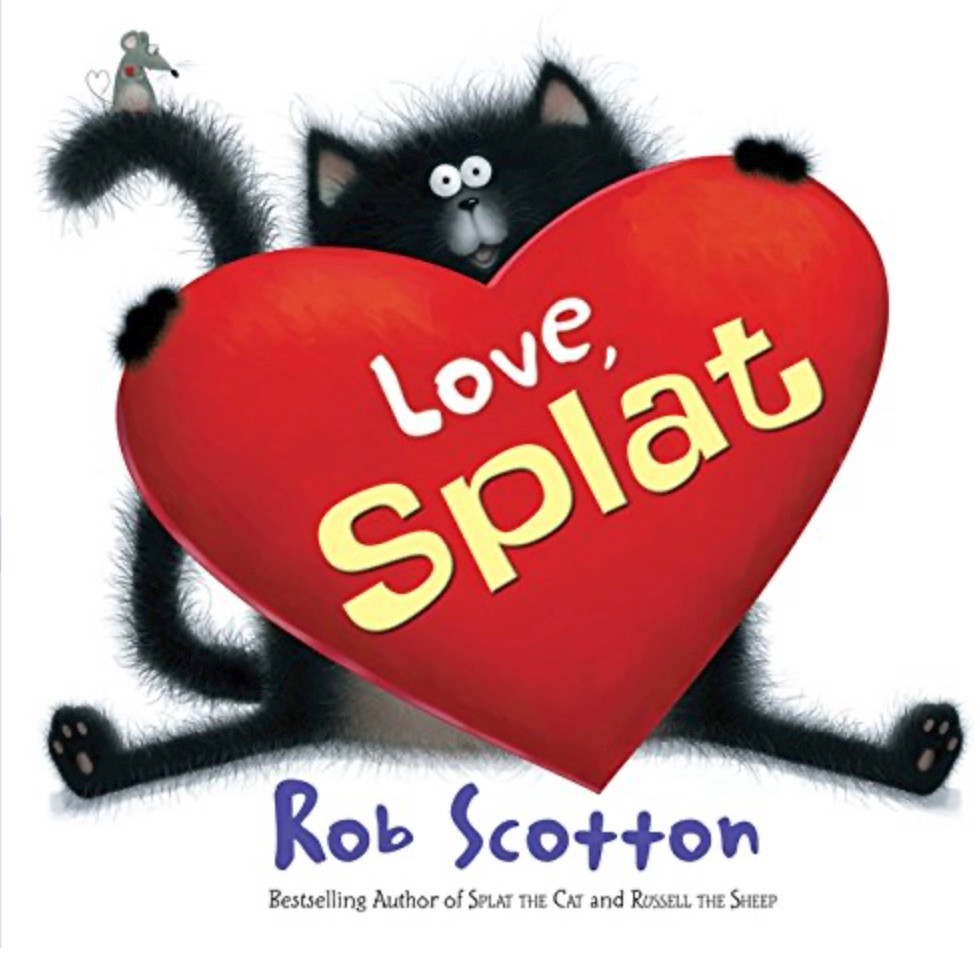 Love, Splat by Rob Scotton Valentine's Day picture book for kids