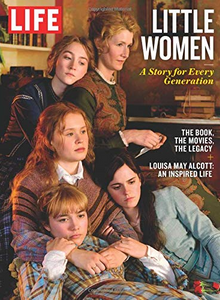 Life-magazine-cover-with-actresses-from-Little-Women-sitting-down-leaning-against-each-other-while-the-mother-opens-a-letter