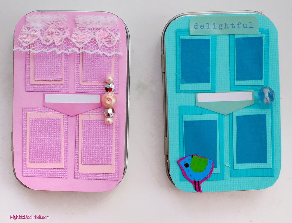 DIY - Make Your Own A-Door-Able Altoid Tin Craft for Kids of All Ages! decorated altos hinged tins to look like mini doors