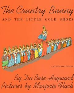 The Country Bunny and the little gold shoes has picture of mother bunny and 21 little bunnies