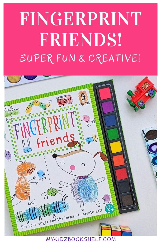 Fingerprint friends book pin