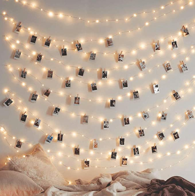 Fairy Lights with clips for instax photos Great Gifts for Grads
