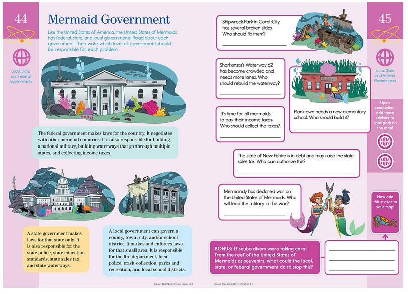 Mermaid Government from Bran Quest Summer Workbok