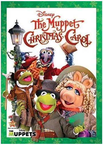 Disney The Muppet Christmas Carol dvd cover with Miss Piggy, Kermit and other muppets
