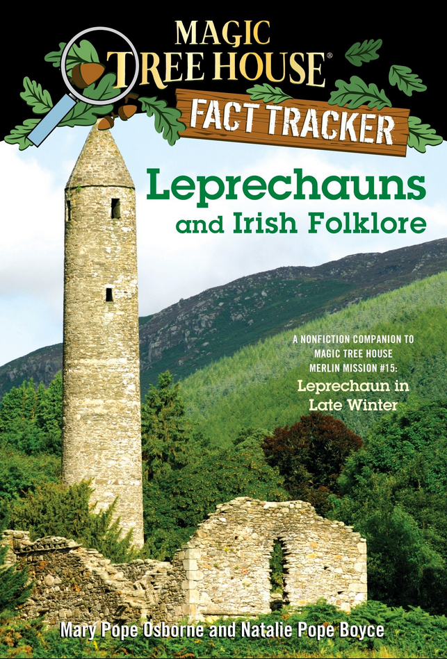 Book cover, Magic Tree House Merlin Missions Fact Tracker Leprechauns and Irish Folklore