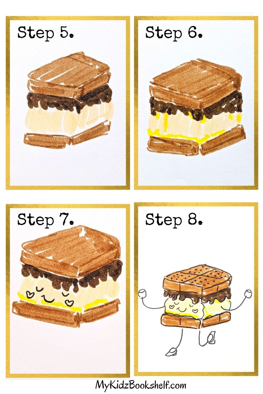 How to draw S'more Friends tutorials last four steps