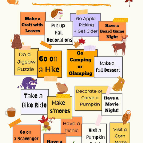 Fall Bucket List Message Board Printable