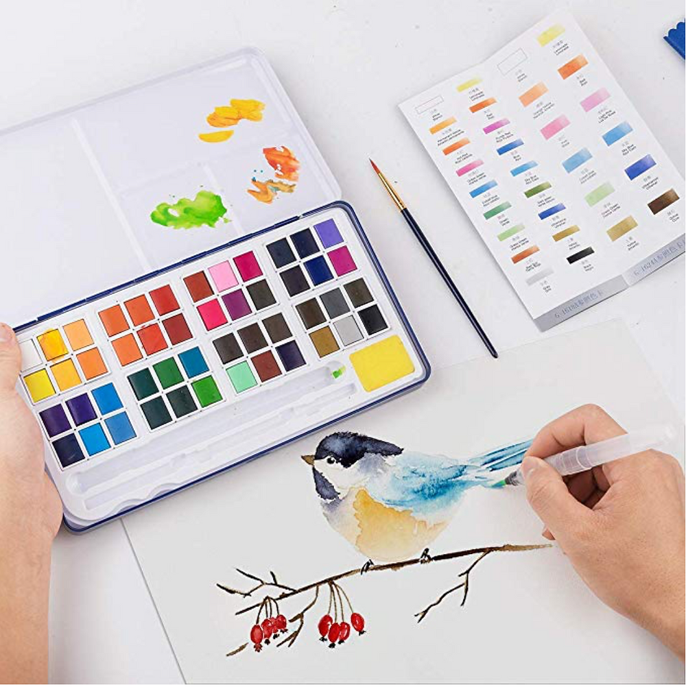watercolor-set-hand-painting-bird-with-watercolor-palette-in-the-background