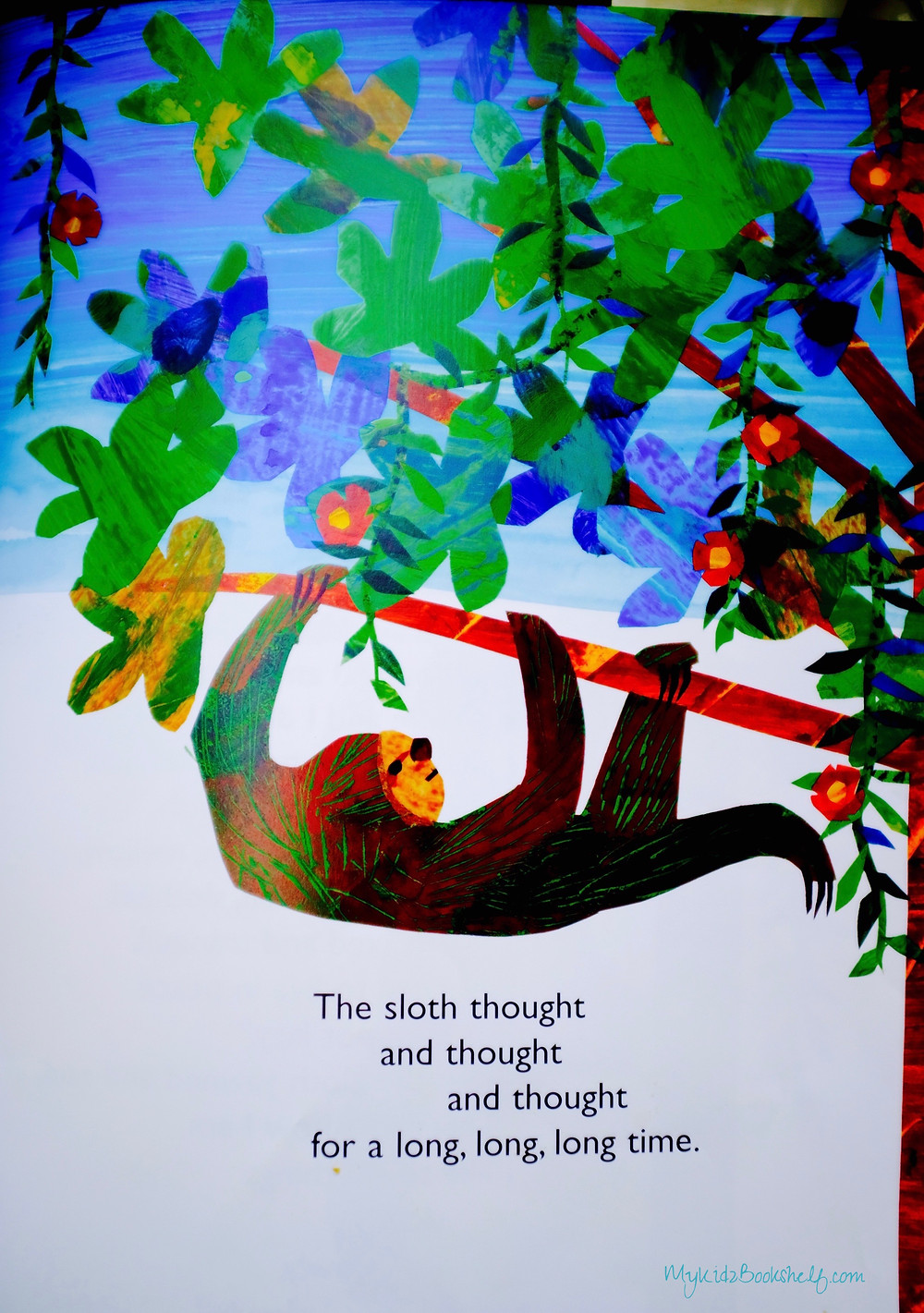 art-for-the-picture-book-slowly-slowly-slowly-said-the-sloth-by-Eric-Carle