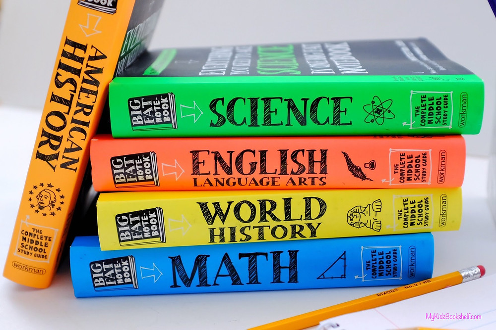 Brain Quest Big Fat Noetbooks for American History, Science, English Language Arts, World History and Math