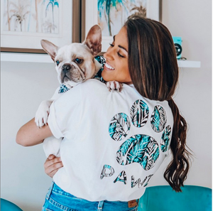 Pawz for a Cause t shirt Great Gifts for Grads - teen girl holding dog